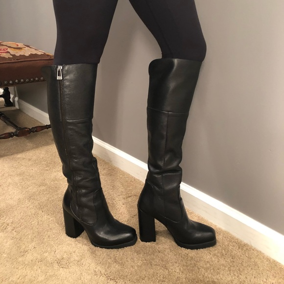 fac5ed42b CIRCUS by SAM EDELMAN knee high black leather boot. Sam Edelman.  M 5b63b345d6716a67458544f6. M 5b63b3475098a0be274e0139.  M 5b63b34815379508fe5aeb8d